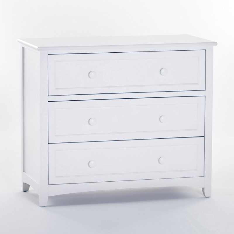 3 drawer chest white