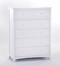 White Morgan 5 Drawer Chest
