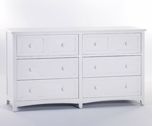 White Morgan 6 Drawer Dresser