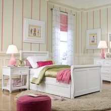 White Morgan Sleigh Bed