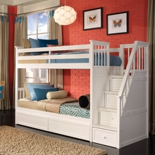 White Morgan Stair Twin Bunk