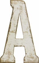 White Wood Cutout Letters