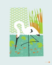 Whooping Crane Canvas Wall Art