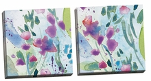 Wild Flower Dance I, II Canvas Wall Art Set