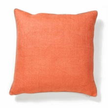 Willow Basket Weave Orange Throw Pillow