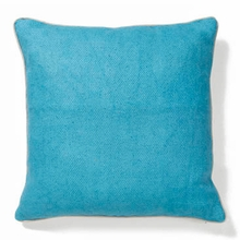 Willow Basket Weave Sea Blue Throw Pillow