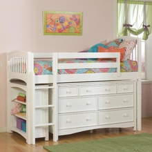 Windsor Twin Loft with Storage Options in White