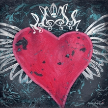 Winged Heart Music Crown Canvas Wall Art