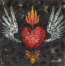 Winged Heart Tattoo Canvas Wall Art