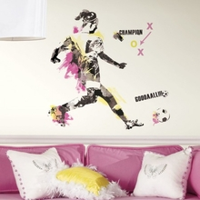 Women's Soccer Champion Peel and Stick Giant Wall Decals