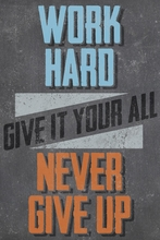 Work Hard Canvas Wall Art