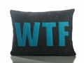 WTF Recycled Felt Throw Pillow