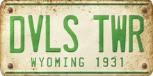 Wyoming Custom License Plate Art