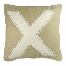 X Stitch Throw Pillow