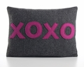 xoxo Recycled Felt Throw Pillow