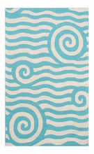 Yala Blue & White Outdoor Rug