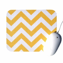 Yellow and White Chevron Mouse Pad