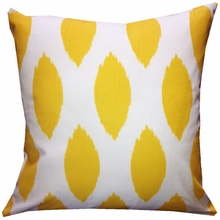 Yellow Chaz Throw Pillow