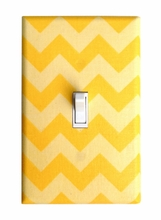 Yellow Chevron Light Switch Plate Cover