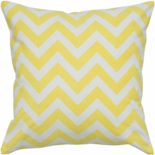 Chevron Throw Pillow in Yellow