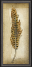 Yellow Feather Framed Wall Art