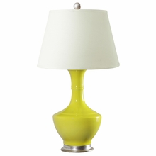 Yellow Glaze Brussels Lamp Base