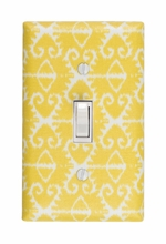 Yellow Ikat Light Switch Plate Cover