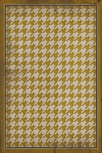 Yellow on White Houndstooth Vinyl Floorcloth