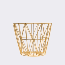Yellow Small Wire Basket