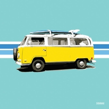 Yellow Van Canvas Wall Art