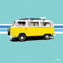 Yellow Van Poster Wall Decal