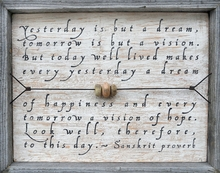 Yesterday Is But A Dream Vintage Art Print with Grey Wood Frame