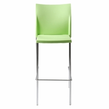 Yeva Bar Chair in Green and Chrome - Set of 2