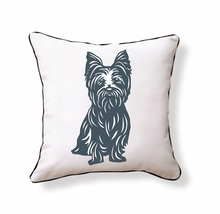 Yorkshire Terrier Reversible Throw Pillow