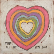 You Fill my Heart with Love Canvas Wall Art