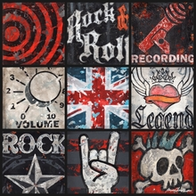 Youth Rock and Roll Collage Canvas Wall Art