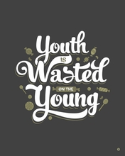 Youth Wasted Canvas Wall Art