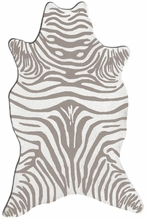 Zebra Gray Shaped Rug