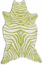 Zebra Green Shaped Rug