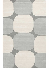 Zenia Rug in Charcoal and White