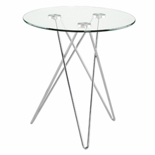 Zoey Side Table in Clear Glass and Chrome