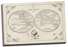 Zone World Map II Canvas Wall Art