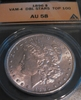 1896 Morgan $ , ANACS AU58, Top 100 VAM-4