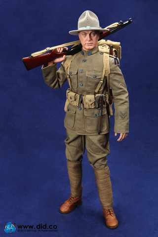 American Infantryman of Expeditionary Force 1917 - Buck Jones 1/6 Scale Figure