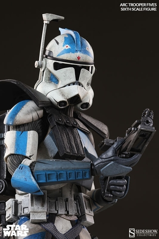 Arc Clone Trooper Fives Phase II Armor 1/6 Scale Figure
