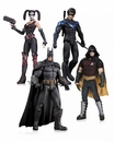 Arkham City Harley Quinn, Batman, Nightwing and Robin Action Figure 4-Pack
