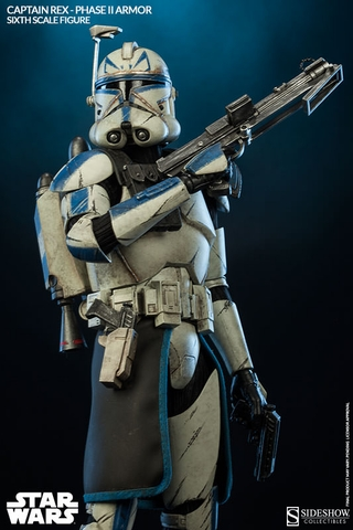 Captain Rex Phase II Armor 1/6 Scale Figure