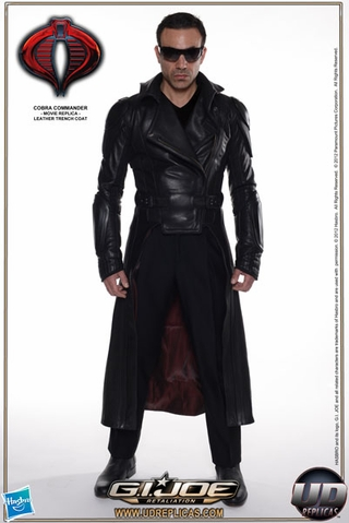 Cobra Commander Leather Trench Coat
