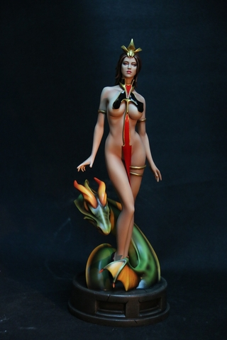 Fantasy Figure Gallery Lady Dragon Statue