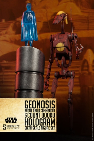 Geonosis Battle Droid Commander and Count Dooku Hologram 1/6 Scale Figure
